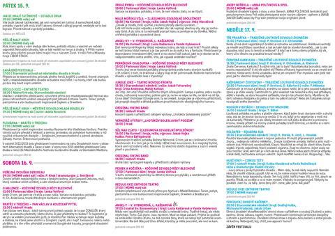 Kompletní program 1. ročníku festivalu netradičních divadelních forem NADOSAH